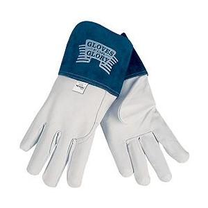 "Picture of 4850M MCR Welder's Gloves,Premium Grain Goatskin MIG/TIG,Sewn KEVLAR,4"" Split Leather,M"
