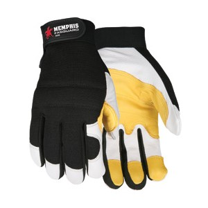 Picture of 906XL MCR Fasguard Gloves,Material/White Grain Goatskin,Yellow Patch Palm,XL