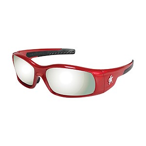 Picture of SR137 MCR Swagger Safety Glasses,Red,Lens Coating Silver Mirror