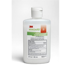 Picture of 07387-50864 3M Avagard D instant Hand Antiseptic W/Moisturizers (61% w/w ethyl alcohol) 9221