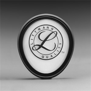 Picture of 07387-51185 3M Littmann Tunable Diaphragm and Rim Assembly,Black rim/bag,51185
