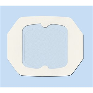 "Picture of 07387-56095 3M 5-7/8""x6"" (14,9cm x 15,2cm) Absorbent Clear Acrylic Dressing,Pad Sz 3-3/8""x4"""