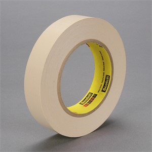 "Picture of 21200-02876 3M Flatback Masking Tape 250 Tan,1""x 60yd 6.0 mil 6 boxes"