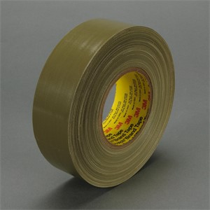 "Picture of 21200-06968 3M Polyethylene Coated Cloth Tape 390 Olive,1""x 60yd 11.7 mil"