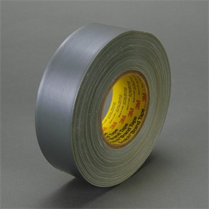 "Picture of 21200-06971 3M Polyethylene Coated Cloth Tape 390 Silver,2""x 60yd 11.7 mil"