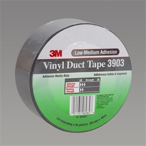 "Picture of 21200-44989 3M Vinyl Duct Tape 3903 Gray,3""x 50yd 6.5 mil"