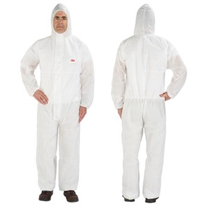 Picture of 46719-46713 3M Disposable Protective CO/A Safety Work Wear 4515-L-White