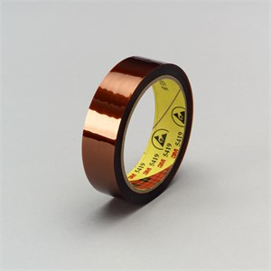 "Picture of 21200-23774 3M Low Static Polyimide Film Tape 5419 Gold,1/2""x 36yd 2.7 mil,paper core"