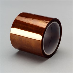 "Picture of 21200-16170 3M Polyimide Film Tape 5413 Amber,1/4""x 36yd 2.7 mil"