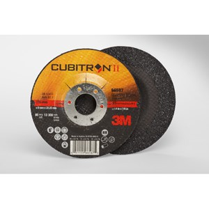 "Picture of 51115-66590 3M Cubitron II Depressed Center Grinding Wheel,Type 27,7""x1/4""x7/8"""