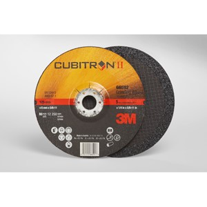 "Picture of 51115-66593 3M Cubitron II Depressed Center Grinding Wheel,Type 27,6""x1/4""x5/8-11"