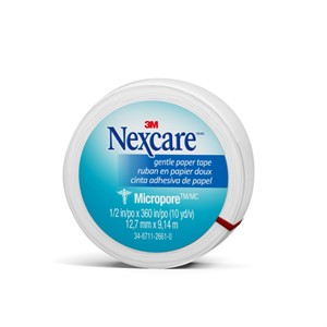 "Picture of 51131-00014 3M Nexcare Micropore Paper First Aid Tape,530-P1/2,1/2""x 10yds,Wrapped"