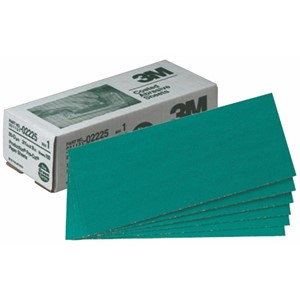 "Picture of 51131-02225 3M Green Corps Production Resin Sheet,02225,3 2/3""x 9"",80D"