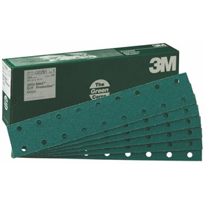 "Picture of 51131-02260 3M Green Corps Stikit Production Sheet D/F,02260,2 3/4""x 16"",80D"