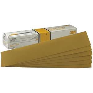 """Picture of 51131-02470 3M Hookit Gold Sheet,02470,2 3/4""""x 16"""",P180C"""