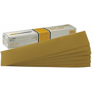 """Picture of 51131-02473 3M Hookit Gold Sheet,02473,2 3/4""""x 16"""",P120C"""