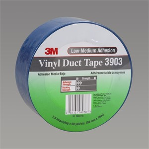 """Picture of 21200-45486 3M Vinyl Duct Tape 3903 Blue,49""""x 50yd 6.5 mil"""