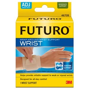Picture of 51131-20091 3M FUTURO Wrap Around Wrist Support 46709EN,Adjustable Beige