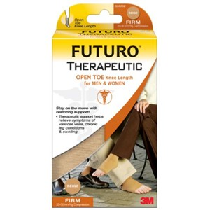 Picture of 51131-20105 3M FUTURO Therapeutic Open Toe Knee Stockings for Men & Women 71033EN,M,Beige