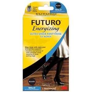 Picture of 51131-20130 3M FUTURO Ultra Sheer Pantyhose Women 71018FCBEN,L Black F Cut