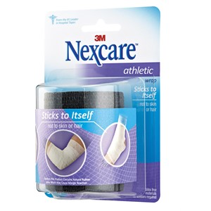 """Picture of 51131-59850 3M Nexcare Athletic Wrap,CR-3BK,Black,3""""x 5yds stretched"""