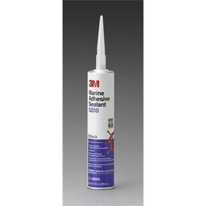 Picture of 51135-06504 3M Marine Adhesive Sealant 5200 Black,PN06504,1/10 Gallon Cartridge