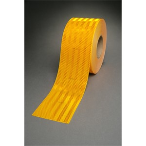 """Picture of 51135-30925 3M Diamond Grade School Bus Conspicuity Sheeting 983 Yellow,2""""x 150ft"""