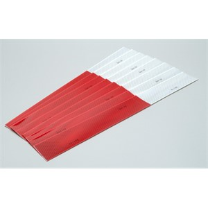 "Picture of 51138-67635 3M Diamond Grade Conspicuity Marking Strip 983-32 (PN67635) Red/White,2""x 18"""