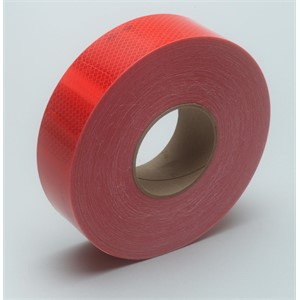 "Picture of 51138-67816 3M Diamond Grade Conspicuity Marking 983-72 ES Red,2""x 150ft"