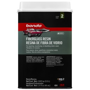 Picture of 76308-00404 3M Bondo Fiberglass Resin,00404,0.85 Gallon