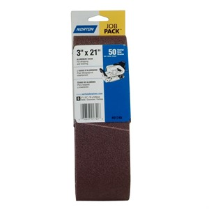 "Picture of 076607-01740 Norton Portable Sanding Belt,Alum Oxide,50 Grit Coarse,3""x21"""