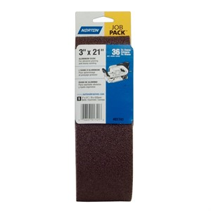 "Picture of 076607-01741 Norton Portable Sanding Belt,Alum Oxide,36 Grit Extra Coarse,3""x21"""