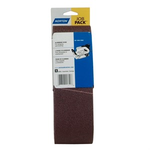 "Picture of 076607-01743 Norton PORTABLE BELTS Aluminum Oxide,3""x24"",Extra Coarse,36 Grit"