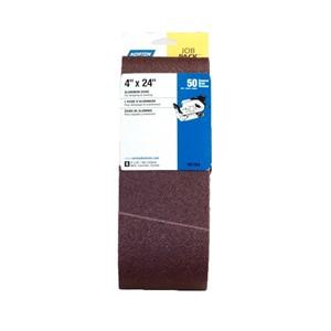 """Picture of 076607-01744 Norton Portable Sanding Belt,Alum Oxide,50 Grit Coarse,4""""x24"""""""