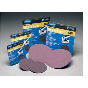 "Picture of 076607-01996 Norton CLOTH DISCS Stick & Sand Orbital/Bench Discs,5"",80-X Grit"