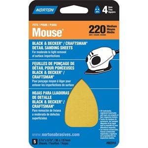 Picture of 076607-02318 Norton DETAIL/PROFILE For Black & Decker/Craftsman Mouse Sander,2VF,2F,1M,Assorted