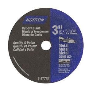 Picture of 076607-47767 Norton Cut Off Wheels,Sm DIA Cut-Off Blades,Part# Type 1