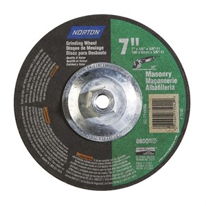 Picture of 076607-75942 Norton Wheels,Model/Type 27,Silicon Carbide,7x1/4x5/8-11,RPM/8600