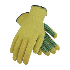 Picture of 08-K300PD/L PIP Kut-Gard Kevlar Gloves,100% Kevlar,PVC Dots One Side,L