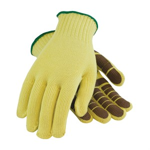 "Picture of 08-K300PS/L PIP Kut-Gard Kevlar Gloves,100% Kevlar,PVC ""Tiger Paw Grip"" Palm Coat,L"