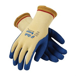"Picture of 09-K1300/L PIP G-Tek K-Force,Kevlar With Blue Latex ""Crinkle"" Grip,L"