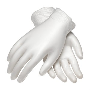 "Picture of 100-2824/L PIP Cleanteam Class 10 Cleanroom Vinyl Gloves,9 1/2"" Length 5 Mil.,L"