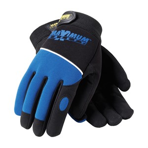 Picture of 120-MX2830/L PIP Maximum Safety Professional Mechanics Glove,Black & Blue Glove With Logo,L