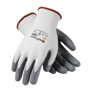 Picture of 34-800/L PIP G-Tek Nitrile Gloves,Maxifoam Premium Gray Foam Nitrile,L,White Liner