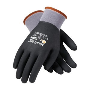 Picture of 34-876/L PIP G-Tek Maxiflex III Seamless Knit Gloves,General Duty By Atg,Black & Gray,L