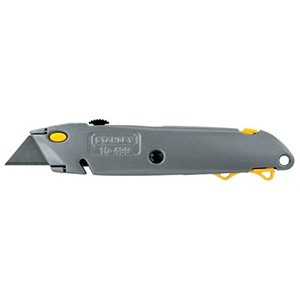 "Picture of 10-499 Stanley,Retractable blade,Push side blade change,6-1/2"",Gray"