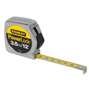 """Picture of 33-215 Stanley PowerLock Tape Measure,TAPE RULE Yellow P35ME1/2""""x12'"""