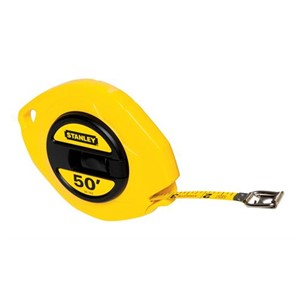 "Picture of 34-103 Stanley Tape Measure,Long tape rule,Closed case,3/8"" blade width,L 50'"