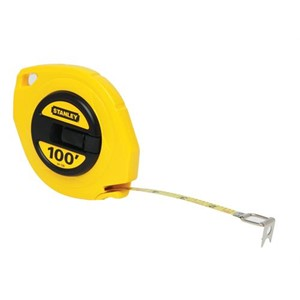 "Picture of 34-106 Stanley Tape Measure,Long tape rule,Closed case,3/8"" blade width,L 100'"
