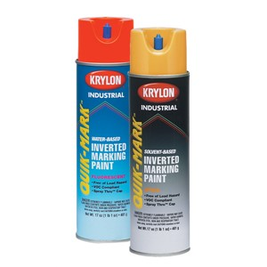 Picture of S03700 Krylon Industrial Quik-Mark WB Inverted Marking Paint,Fluorescent Orange